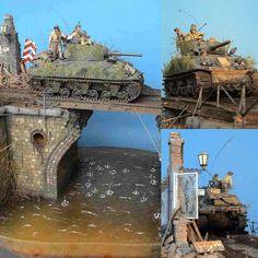 """Die Bruecke"" (The Bridge) 1/35 diorama. Modeler Gunnar Baeumer #scalemodel #plastimodelismo #miniatura #miniature #plasticmodel #plastickits #usinadoskits #udk #war #guerra #guerre #diorama #hobby #bridge #bruecke #bataille #scalemodelkit #plastimodelo #plamodel #scalemodelsworld"