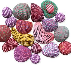 beads – Page 4 – Polymer Clay Daily Polymer Clay Tools, Polymer Clay Canes, Polymer Clay Projects, Polymer Clay Beads, Clay Crafts, Video Fimo, Clay Texture, Clay Tutorials, Painting Tutorials