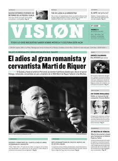 Newspaper/ Periódico: VISION by Mercedes Bazan, via Behance