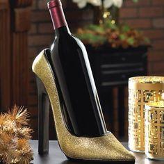Sparkling Shoe Wine Holder $29.95 https://www.facebook.com/Twogirlsdecor/posts/791690484280433 #wine #decor #diva #twogirlsdecor #tabletop #homedecor #heels #wine #bottlenotincluded #girly #fun