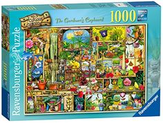 BUY NOW This intricate, vibrant and elaborate puzzle is a hothouse of colour! There are some vivid and unusual exhibits to be found stashed away inside The Gardener s Cottage. Some of them are to be expected gardening gloves, a trug, and some pretty flowerpots; whilst others are definitely odd gnomes, unusual creatures and doorways to strange new lands. Open the door into the Gardener s Cupboard and discover a world of weird and wonderful surpris
