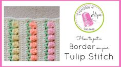 CROCHET How to put a Border on your Tulip Stitch