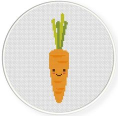 FREE for April 13th 2014 Only - Carrot Cross Stitch Pattern