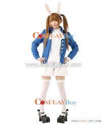 Add blue jacket to white rabbit costume?