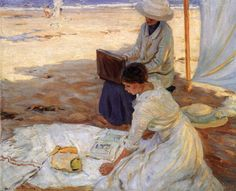 In the Shadow of the Tent (1914) - Helen Galloway McNicoll (Canadian, 1879-1915)