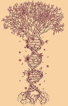 DNA tree of life tattoo