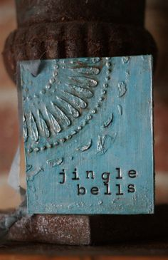 3 Distressed Turquoise Christmas Gift Tags by PaperandMallet