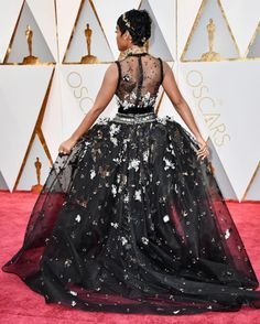 Haute Couture Elie Saab Gown Janelle Monae Oscars 2017