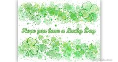 Saint Patrick's Day is Saturday, March 17th. This new eCard can be used for St. Patty's Day or to wish someone luck any time of year!  Legend has it that Saint Patrick used the shamrock, the three-leaf clover variety, to teach pagans about the Holy Trinity so why do people associate luck with Saint Patrick's Day? About 1 clover leaf in 10,000 will have four leaves so if you find one that's pretty lucky!