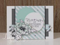 LizDesign: Stampin with Liz Design: Birthday Blooms Card