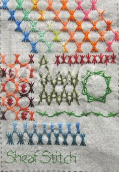 I ❤ embroidery . . . TAST Sheaf Stitch ~By Maya Matthew