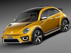 3d model 2014 volkswagen beetle
