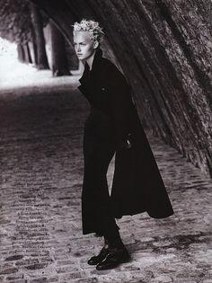 Amber Valletta | Photography by Patrick Demarchelier | For Harper's Bazaar Magazine US | October 1993