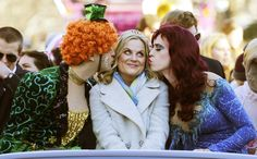 Amy Poehler at the Hasty Pudding parade in Cambridge MA. 01-30-2015