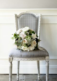 For the bride-to-be (or the bride of many years): shades of white, cream, and buff with touches of green in a romantic and classic bouquet. | Floral design by Robert Long | Photo by Erica George Dines. Our Editors picks for the sweetest inspiration for your Valentine's Day arrangement or bouquet. Nothing is as romantic as flowers on February 14th.