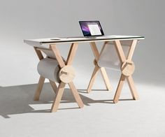 The Analog Memory Desk from Kirsten Camara brings us back to our roots in a fabulous way. Kirsten added a roll of paper to a great looking work desk.