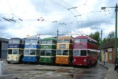 Line of 5 Roe bodied trolleybuses   Flickr - Photo Sharing! // includes trolley buses from Doncaster and Rotherham