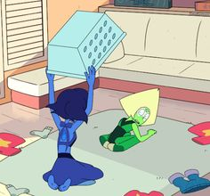 "Lapis has taken a new prisonerA small GIF for this week's Lapidot Tuesday prompt. Sequence inspired by episode 2 of the anime ""Kotoura-san."""