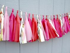 Romance Tissue Paper Tassel Garland   Party  by ThePaperJar