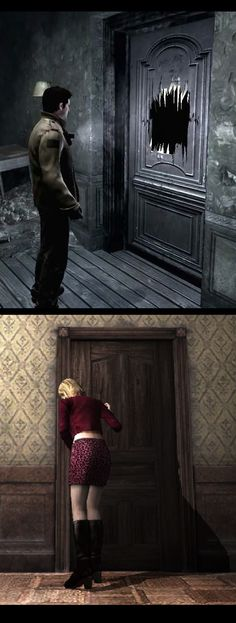 Silent Hill Homecoming & Silent Hill 2 - Carol Doyle & Ernest Baldwin - Manifestation that Not Physically but in a form of Memories - Cult Games, Silent Hill Game, Horror Room, Survival Videos, Crash Bandicoot, Nice Place, Historical Society, Resident Evil, Memoirs