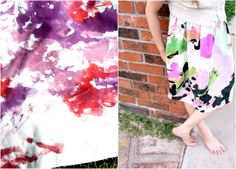 awesome idea...painting fabric with RIT dye