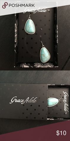 Grace Adele Teal Earrings Brand new earrings. I just found them after cleaning out my room and they aren't something I would normally wear. grace adele Jewelry Earrings