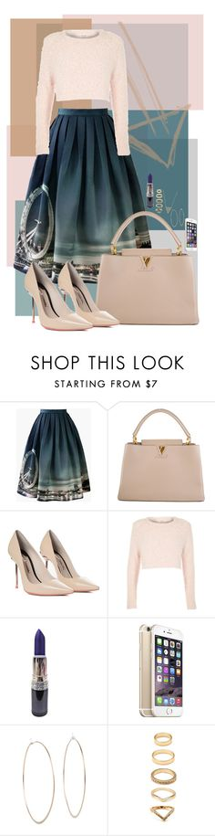 """""""10/19/2015"""" by goldenhippy on Polyvore featuring Chicwish, Louis Vuitton, Sophia Webster, River Island, Michael Kors, Forever 21 and House of Harlow 1960"""