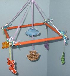 DIY nursery mobile made with pipe pieces. Could be great for our plumbers, lol.