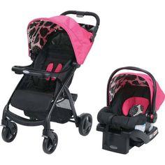 Graco Verb Click Connect Travel System with SnugRide 30 Infant Car Seat, Azalea - Walmart.com