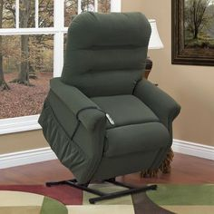 Med-Lift 30 Series 3 Position Lift Chair Upholstery: Apollo Dark Brown Vinyl, Vibration and Heat: 6 Vib/Heat