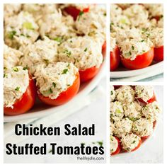 Chicken Salad Stuffed Tomatoes via @thelifejolie