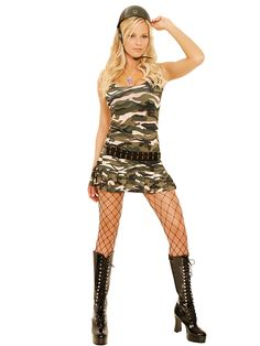 womens sexy halloween costumes womens sexy army girl costume halloween army costume - Halloween Army Costumes