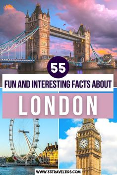 55 Fun and Interesting Facts About London. Check out these 55 fun and interesting facts about London. From the lush parks, astounding landmarks, and world-class museums, throw in diverse history, cosmopolitan feel, and architectural masterpieces, and you'll realize why everybody who visits London falls in love with it.  Facts About London | Fun Facts About London | Interesting Facts About London | Funny Facts About London | Things to know about London | London Travel | London England Travel, London Travel, European Travel Tips, European Destination, Day Trips From London, Things To Do In London, Interesting Facts About London, London Attractions, Funny Facts