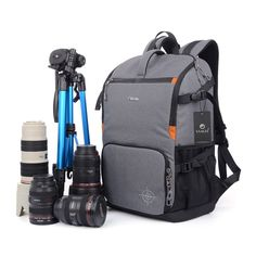 Amazon.com: YAAGLE Oxford Multi-functional Waterproof Anti-shock DSLR Camera Bag Backpack Professional Gear Photography Travel Backpack Rucksack 15-inch Laptop Pack Black Grey Army Green: Camera & Photo