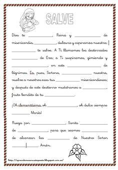 Salve: http://aprendemosencatequesis.blogspot.com.es/ Bajo tu amparo: Fuente: elrincondelasmelli Oración Yo confies...