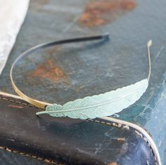 Feather Headband Mint CHOOSE COLOR So by LoveNuggetDesigns on Etsy, $8.00