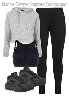 A fashion look from August 2015 featuring gray hoodie, Studio and strappy shirt. Browse and shop related looks. Cute Lazy Outfits, Cute Swag Outfits, Chill Outfits, Sporty Outfits, Athletic Outfits, Mode Outfits, Dance Outfits, Outfits For Teens, Trendy Outfits