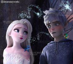 Jelsa - Elsa and Jack Frost - Frozen edit by Frozen Love, Frozen And Tangled, Disney Frozen Elsa, Elsa Frozen, Disney Princess Facts, Disney Princess Pictures, Princess Luna, Sailor Princess, Jelsa