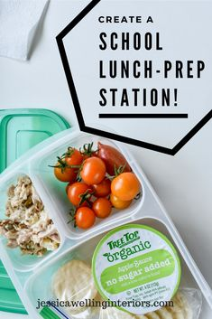 Streamline school lunch packing with this simple school lunch-packing system and prep station!