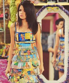 Alex Russo in comic book dress!