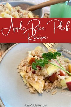 Flavorful apple, toasted pecan, raisin, and rice pilaf recipe. Quick and easy recipe ready in just about 30 minutes. Perfect side dish for pork, poultry or salmon. fitasafiddlelife.com Greek Dishes, Side Dishes, Rice Pilaf Recipe, Recipe Ready, Toasted Pecans, Quick Easy Meals, Raisin, Poultry, Salmon