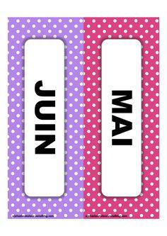 Etiquettes mois (LaCatalane).pdf - Fichiers partagés - Acrobat.com Adobe Acrobat, Ms, Billboard, Sticker, Organization, Preschool, Atelier