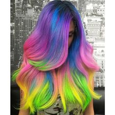 Amazingly colorful hair designs… festival approved! Faashion Addict ❤ liked on Polyvore featuring hair