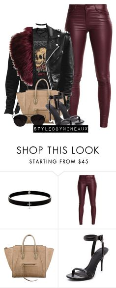 """Untitled."" by styledbynineaux ❤ liked on Polyvore featuring Lynn Ban, PacSun, CÉLINE and Alexander Wang"