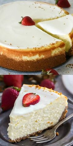 Cheesecake Factory Original Cheesecake Copycat Recipe can easily be made at home anytime you crave it. Cheesecake Factory Original Cheesecake Copycat Recipe can easily be made at home anytime you crave it. The Cheesecake Factory, Cheescake Factory, Easy Desserts, Delicious Desserts, Dessert Recipes, Yummy Food, Health Desserts, Summer Cake Recipes, Light Desserts