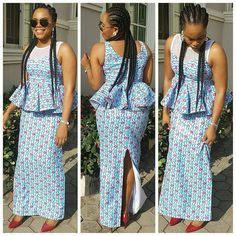 Zaineey's Blog : These Trendy Ankara and Lace Combination Styles Wi...