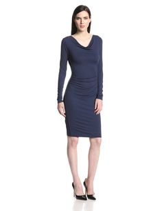 Anyika Fitted Cowl Neck Dress by BCBGMAXAZRIA
