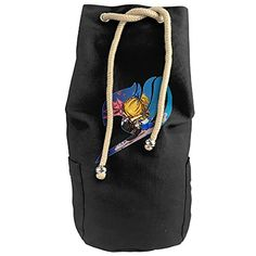 Bandy Fairy Tail Logo Canvas Drawstring Backpack Bucket Bag * More info could be found at the image url.