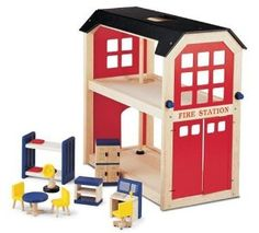 Pintoy Wooden Fire Station Accessories from Pintoy at the Pintoy Toys £63.99