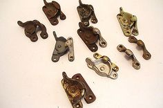 8 Assorted Window Latches Vintage and Antique Hardware